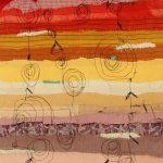 Landschaft I Applikation / Maschinenstickerei 36 x 53 cm